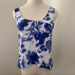 Selena Gomez cloud tank top with white buttons